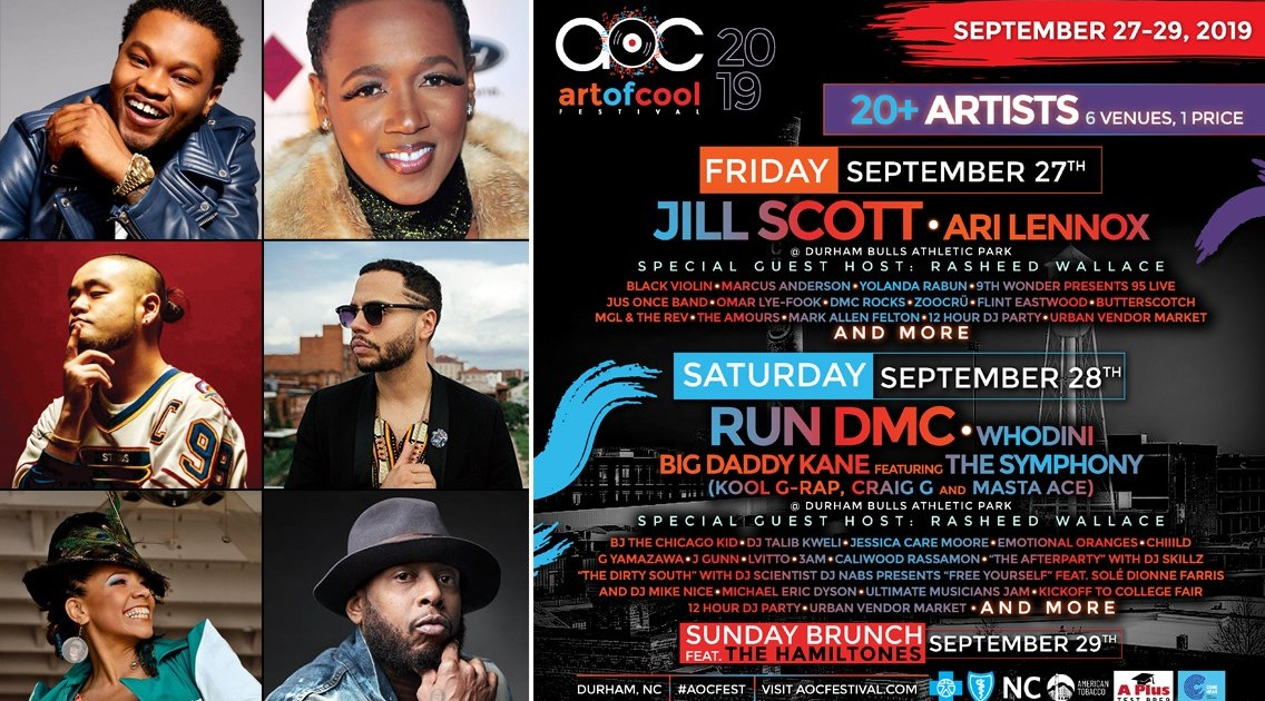 2019 Sixth Annual Art Of Cool Festival Aocfest Durham Nc